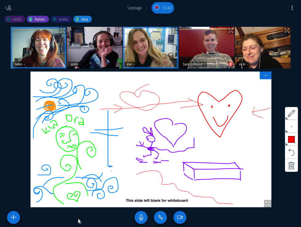 Artistic team meeting